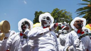 Performers at the Minstrel Festival in Cape Town, South Africa - Tuesday 2 January 2018