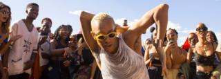Dancing at AfroPunk festival Johannesburg