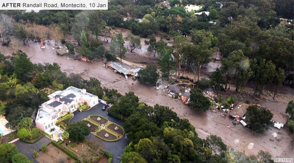 Randall Road Montecito, after mudslides