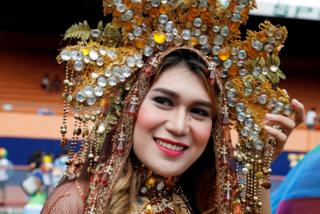 Revellers take part in a Gay Pride parade in Marikina, Philippines on 30 June 2018